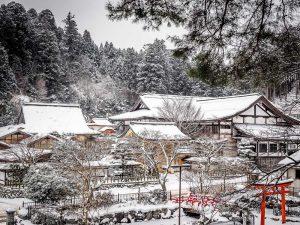 magical places in winter Koyasan Japan