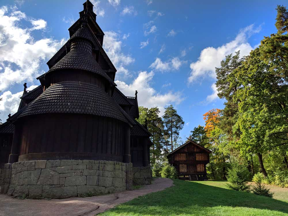 Oslo attractions - Norwegian Museum of Cultural History - stave church