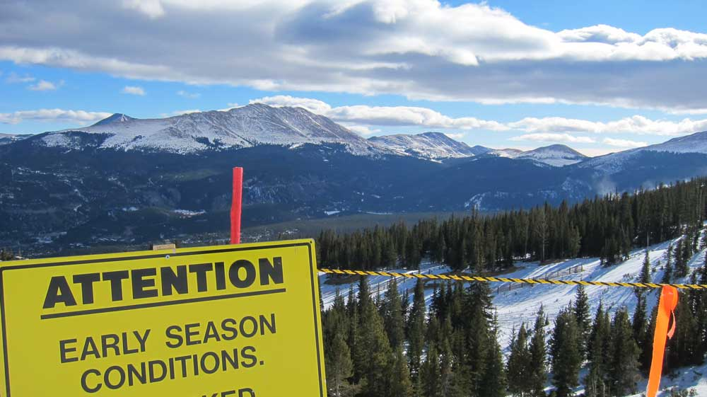 Skiing dictionary - early season conditions