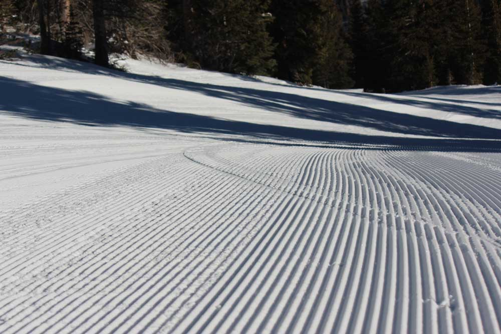 Skiing vocabulary - groomer