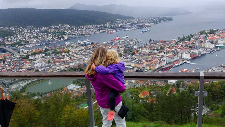 Bergen 3 day itinerary - funicular