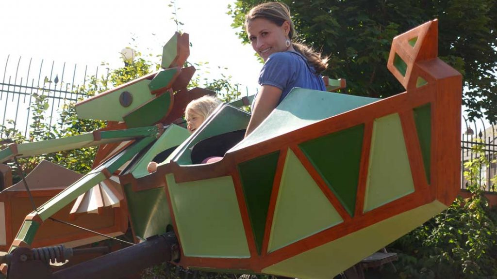 Rides for toddlers at Tivoli Gardens Copenhagen - Little Dragon