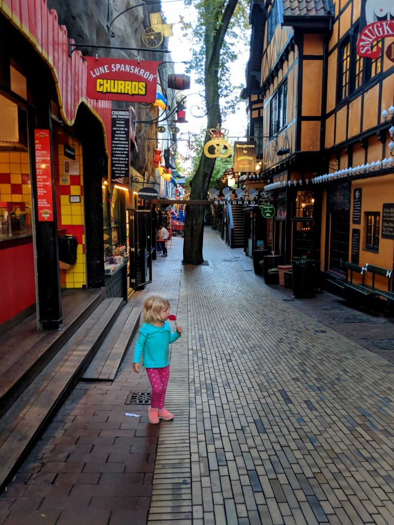 Tivoli Gardens Copenhagen with toddlers