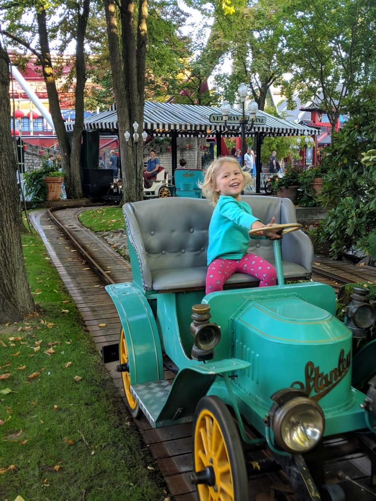 Tivoli Gardens for toddlers - vintage cars