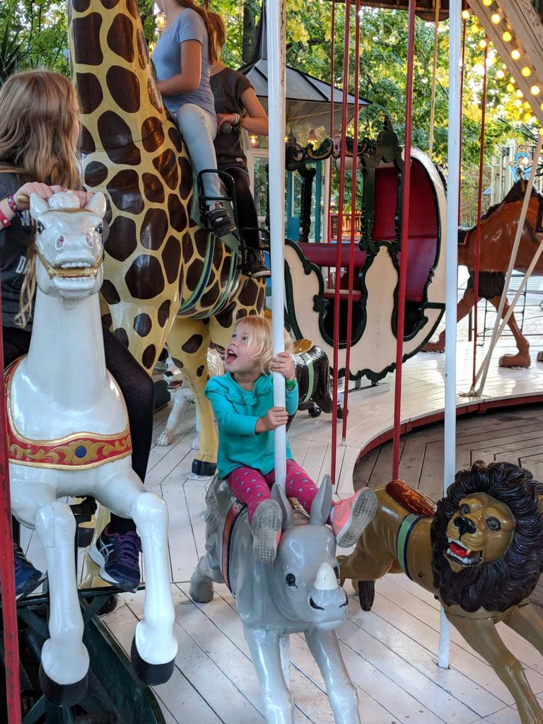 Tivoli Gardens with toddlers - the classic carousel