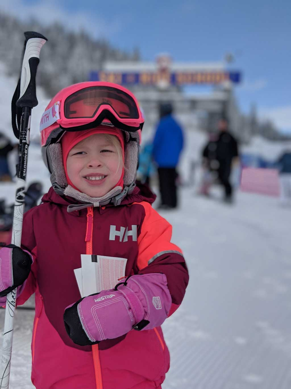 age to start skiing - 4 year old skiing