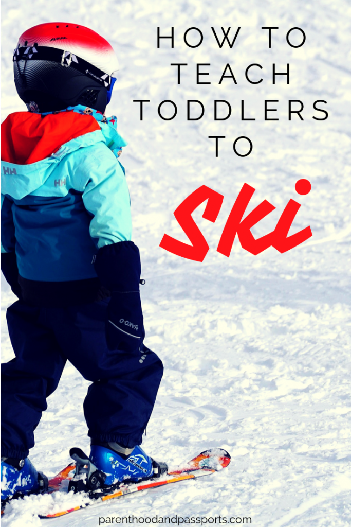 How to teach toddlers to ski. Teaching toddlers to ski is exhausting for the child and the parent. These proven ski tips will help your kids learn to ski and love it!