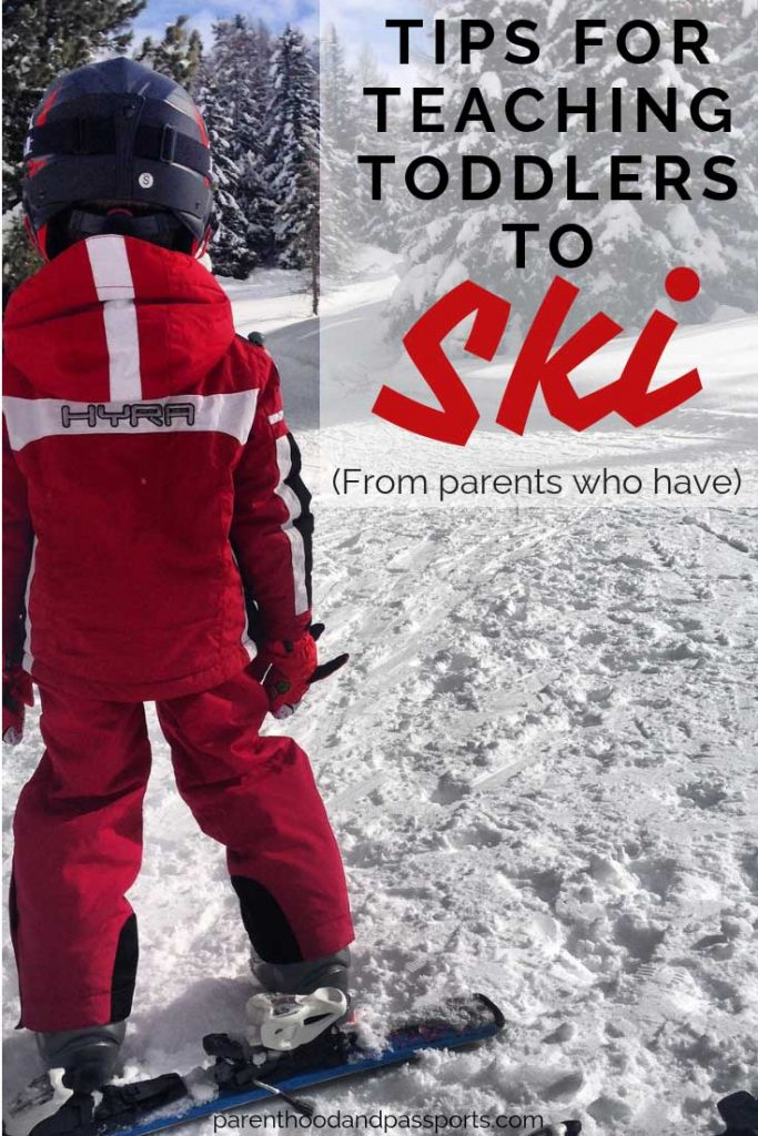 Teaching toddlers to ski is exhausting for the child and the parent. But these ski tips will help your kids learn to ski and love it! From parents (and ski bums) who have successfully taught their toddler to ski.