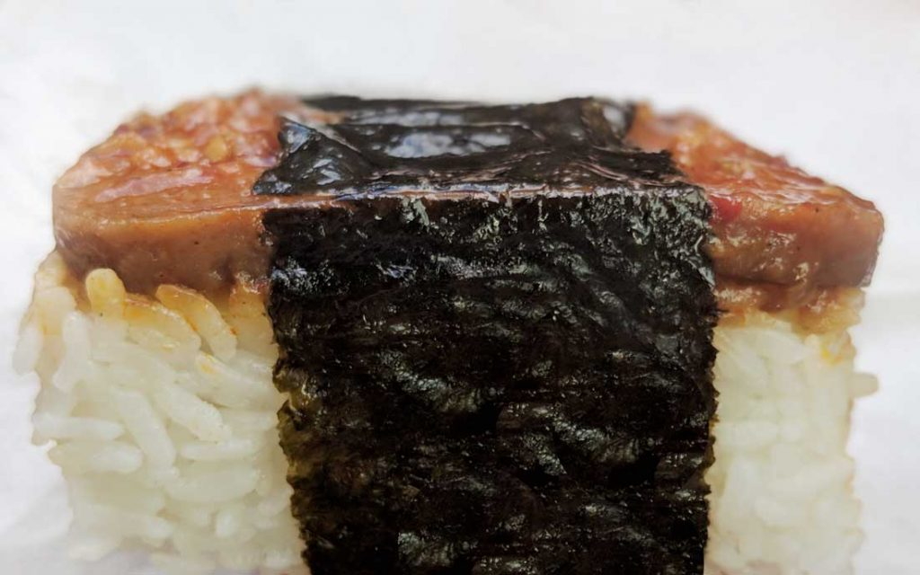 SPAM musubi - Hawaii food to eat