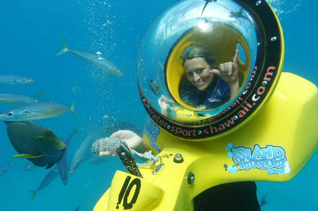 underwater scooter Oahu activities