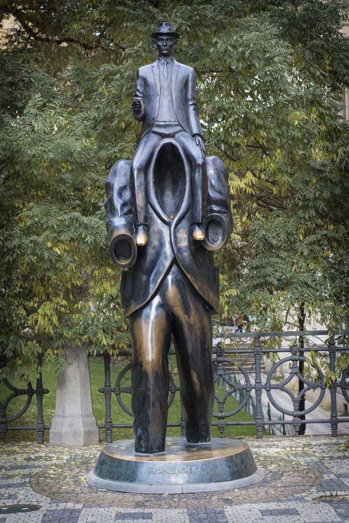 Prague statues - Franz Kafka