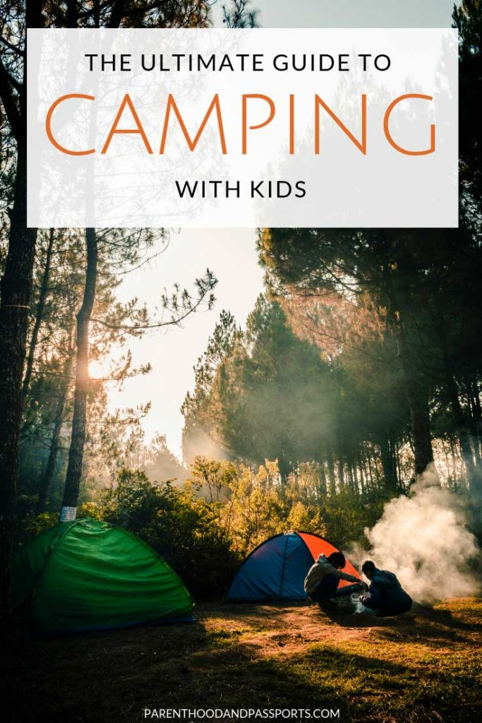 Camping with kids isn't always easy. But this handy guide offers camping tips to make the experience stress-free for everyone. Plus, a handy list of all the essential camping gear you need to bring to the campsite and a few entertaining must-have items to make camping with kids exciting and safe. #camping