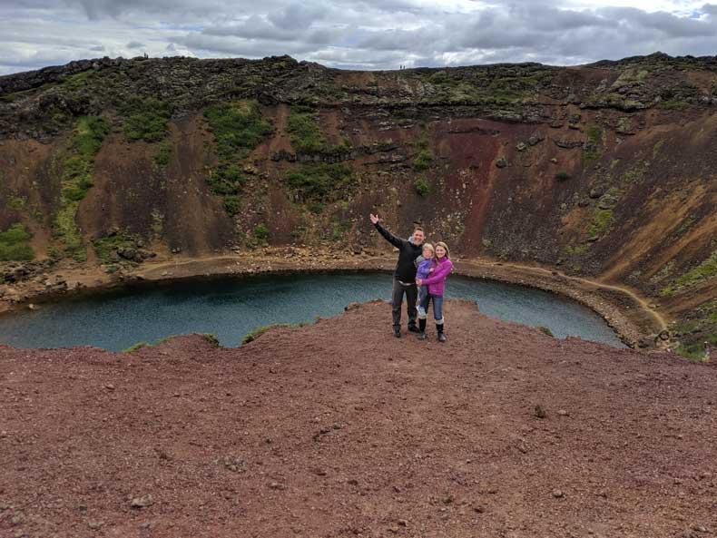 Iceland Kerin volcano crater
