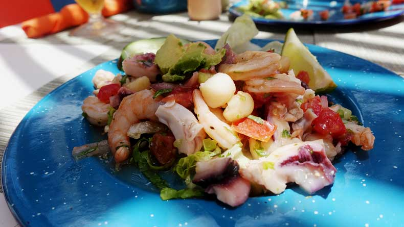 Food in Mexico - ceviche
