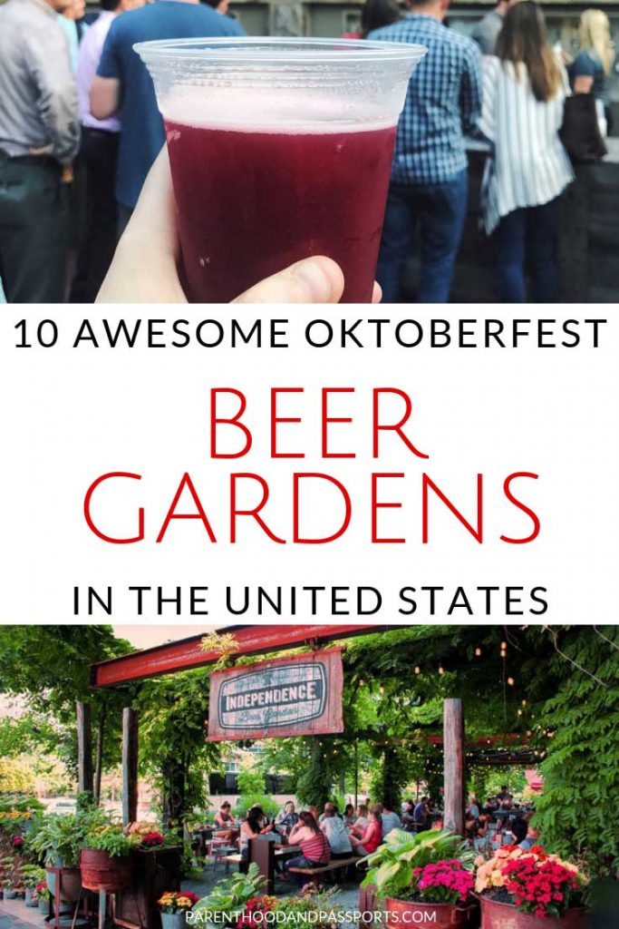 Looking for a place to celebrate Oktoberfest in the United States? These 10 beer gardens in America will make you feel like you are truly taking part in the German festival. Click through to find the closest biergarten in the United States to you! #beergarden #biergarten #unitedstates #beer