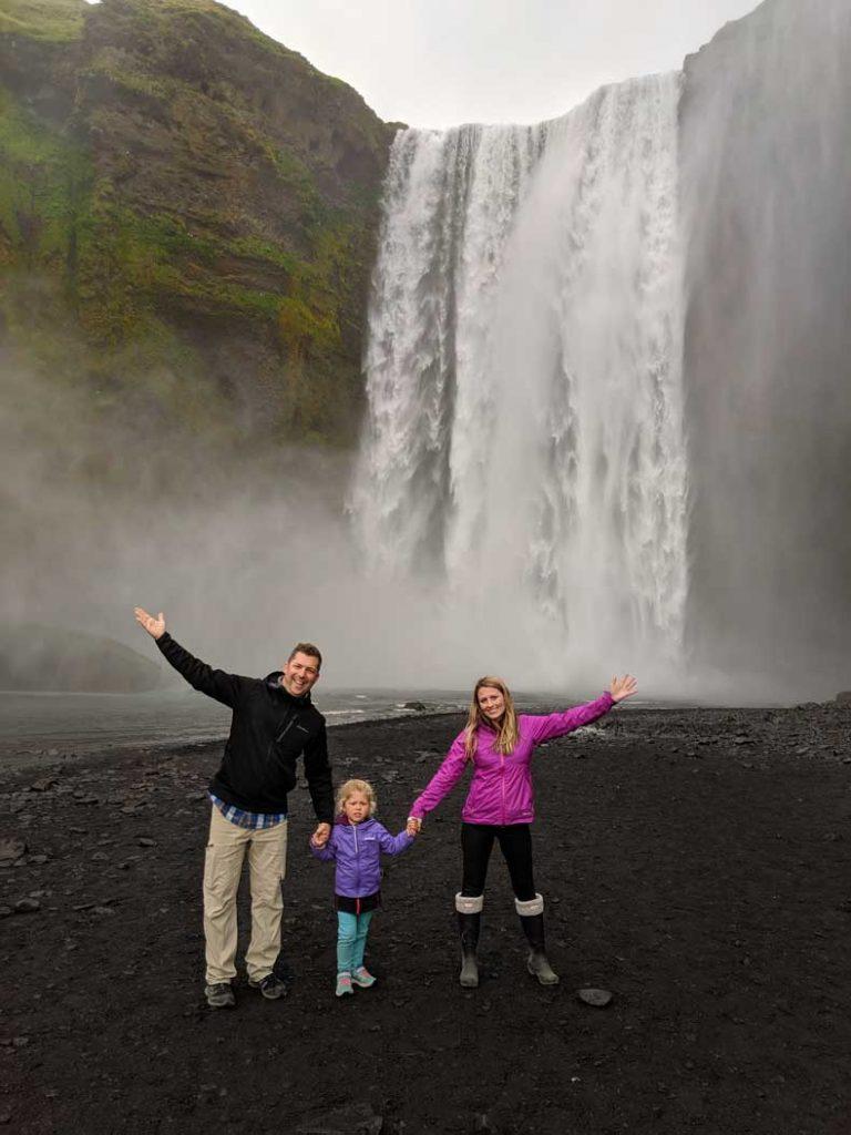 waterfall in Iceland Skogofoss