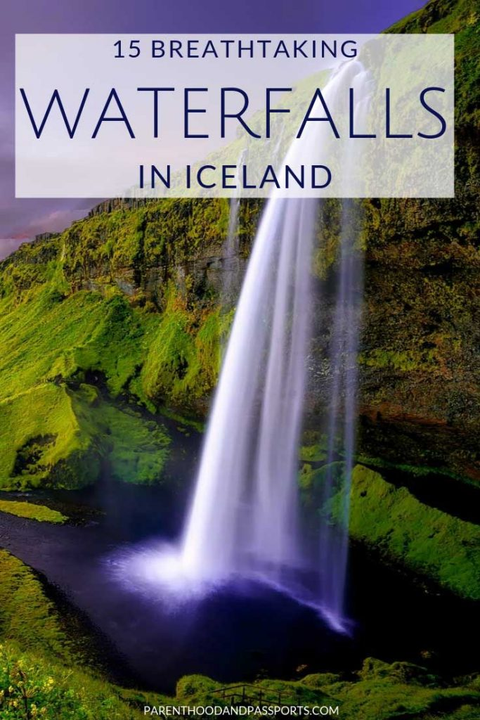 Visiting Iceland? There are so many beautiful and majestic waterfalls in Iceland. Whether you are taking the southern route or visiting the northern part of the island, this post lays out the top 15 best Iceland waterfalls, with a map to help you plan your itinerary. #iceland #icelandtravel #waterfalls #travel