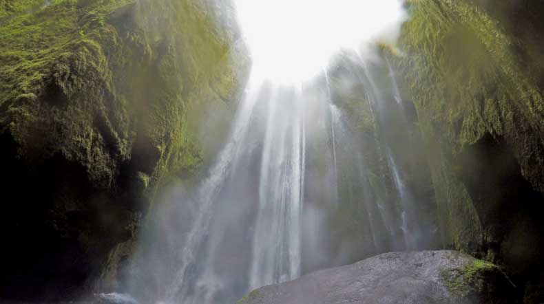 Gljufrabui secret waterfall in Iceland