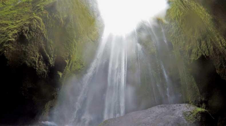 Gljufrabui secret waterfall in Iceland