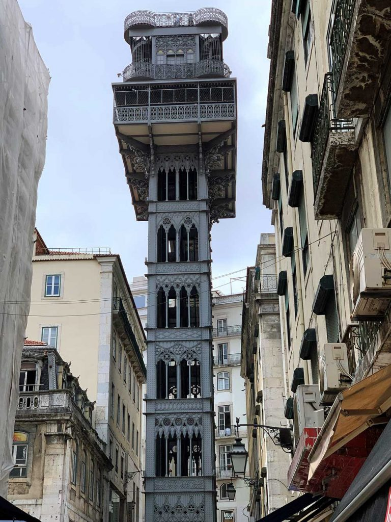 Santa Justa Lift is one of the many things to do in Lisbon with kids
