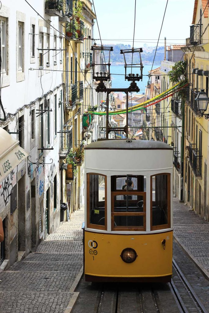 famous funicular in Lisbon