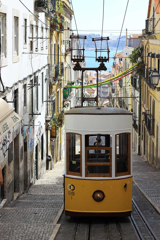 Funicular in Lisbon Portugal