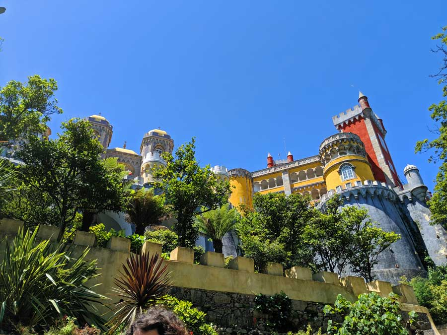 Pena Palace - the most popular place to visit when spending one day in Sintra