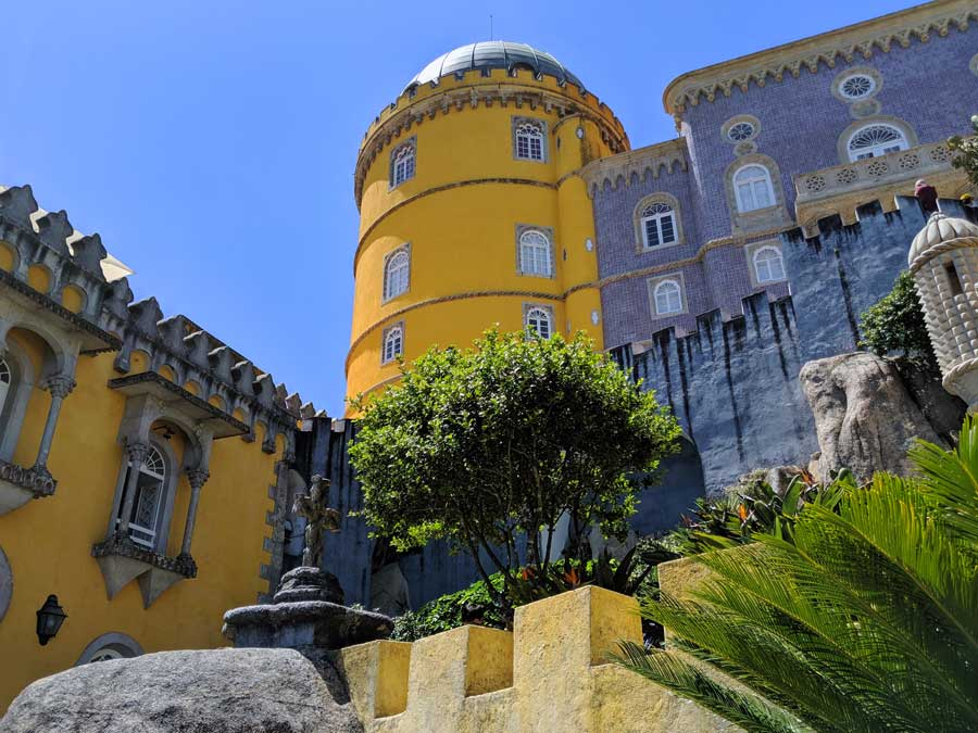 Sintra day trip from Lisbon view of Pena Palace