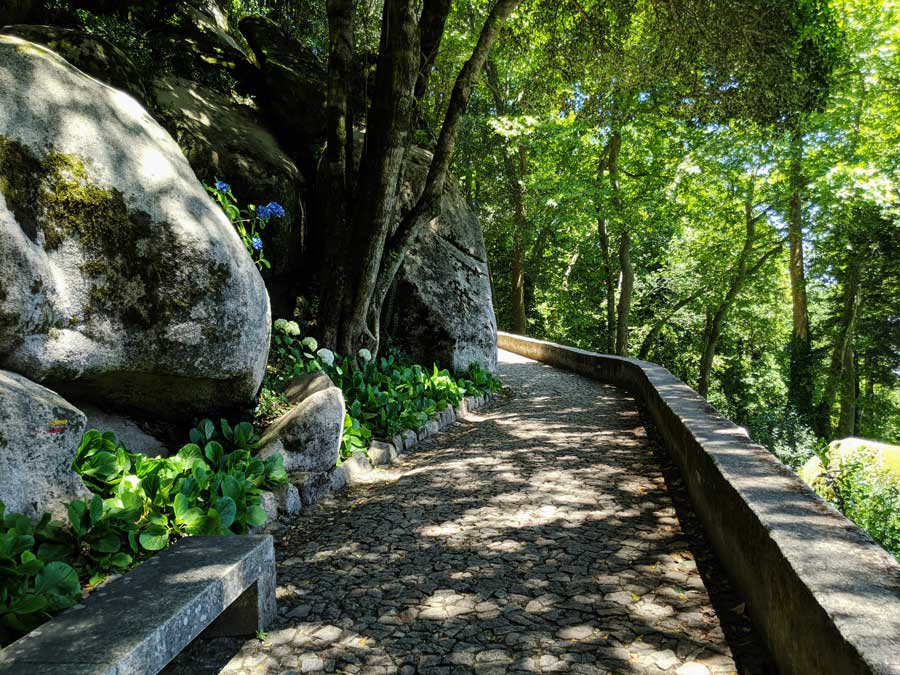 nature walk to the Moorish ruins on a day trip to Sintra