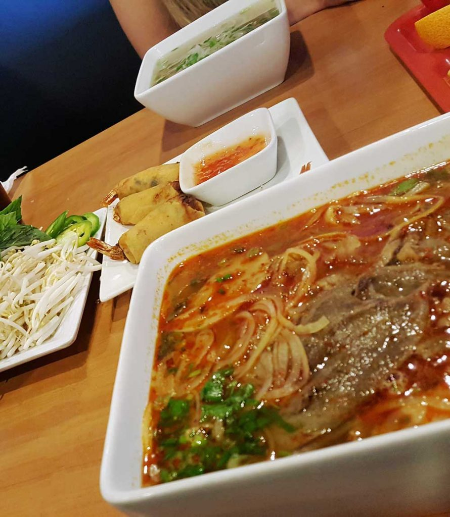 dining at international restaurants in OKC pho and appetizers