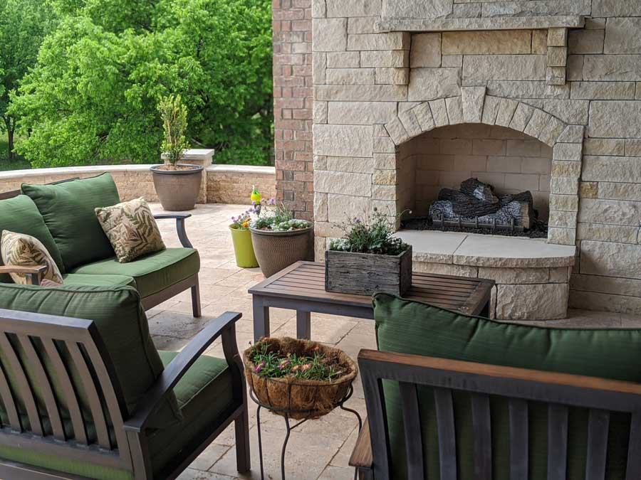 utilizing outdoor space like a patio is a way to feel like you are traveling when you can't