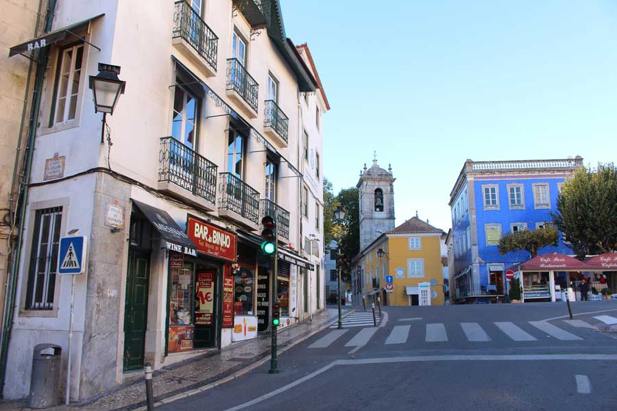 streets in Sintra Portugal town center