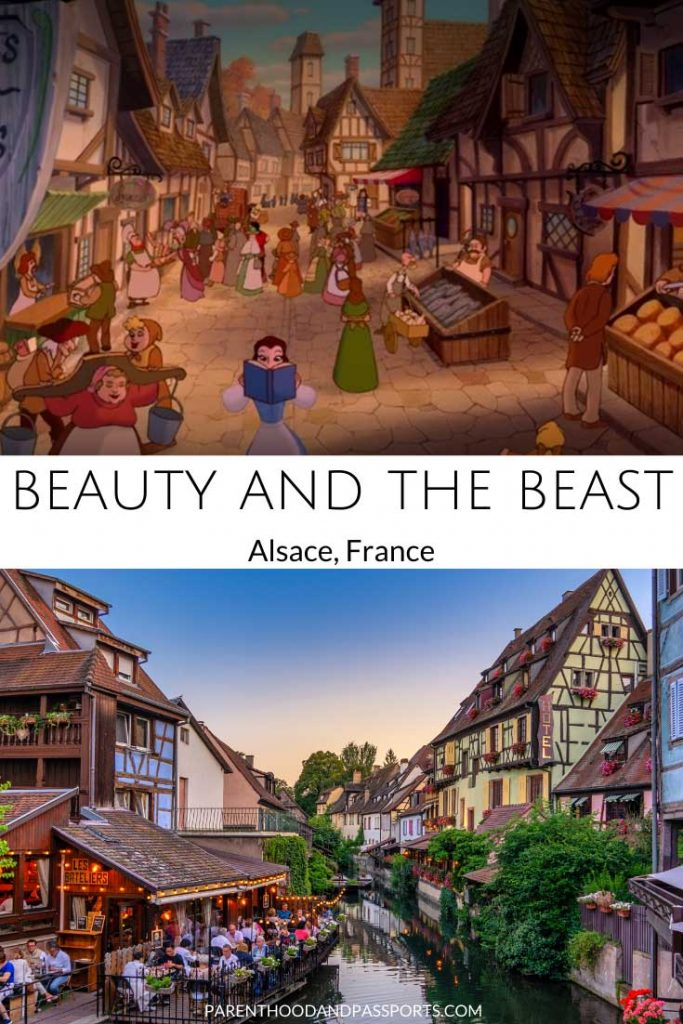 The animated setting of Beauty and the Beast compared to the real-life inspiration for the Disney movie, Alsace, France
