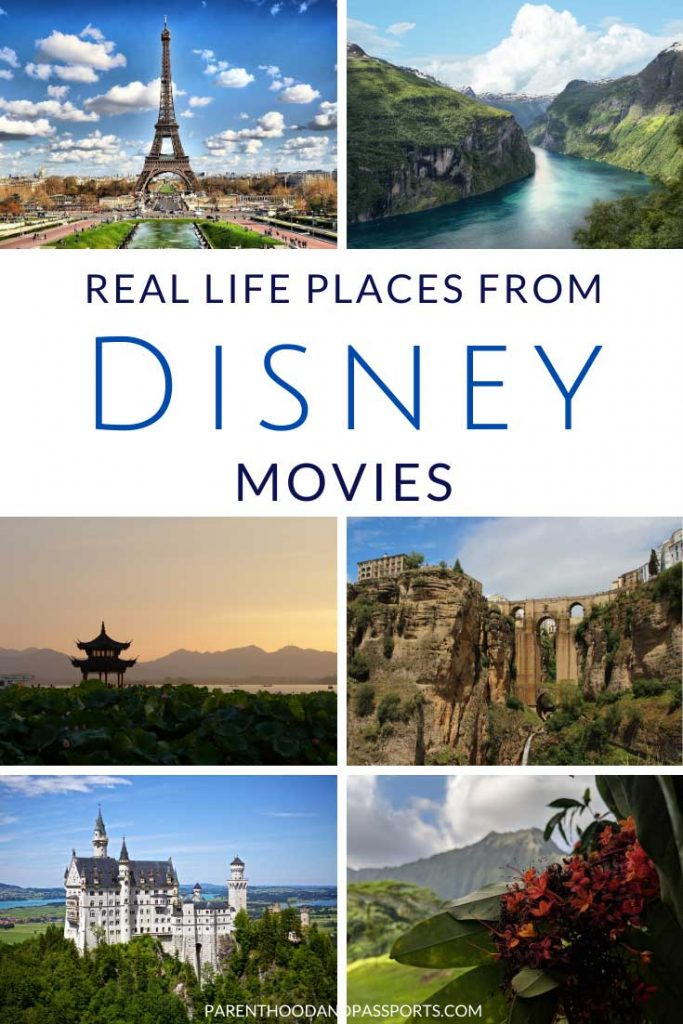 Dreaming of a magical kingdom far, far away? Here are 25 fairy tale places in Disney movies you can actually visit. These Disney settings around the world are just as dreamy in real life as they are in animation!