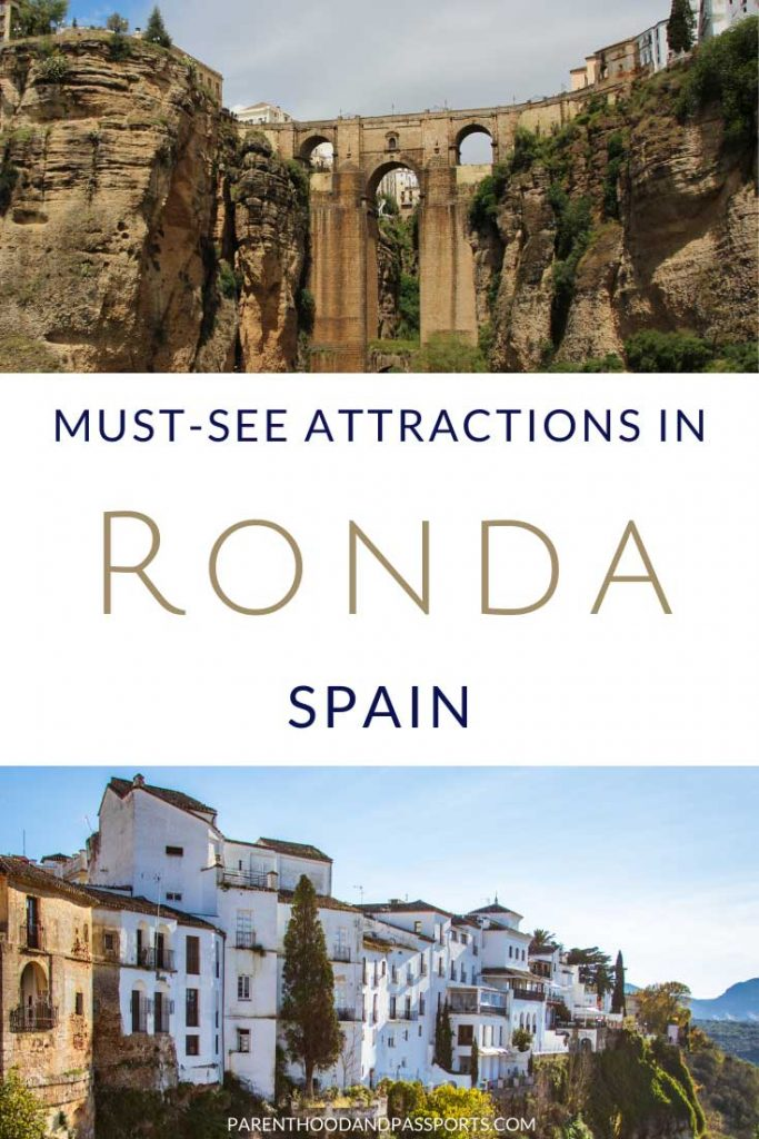 Ronda, Spain is a beautiful village on the side of a cliff. Here are the top things to do in Ronda and tips for visiting Ronda on a day trip from Seville or Cordoba. #spain #andalusia