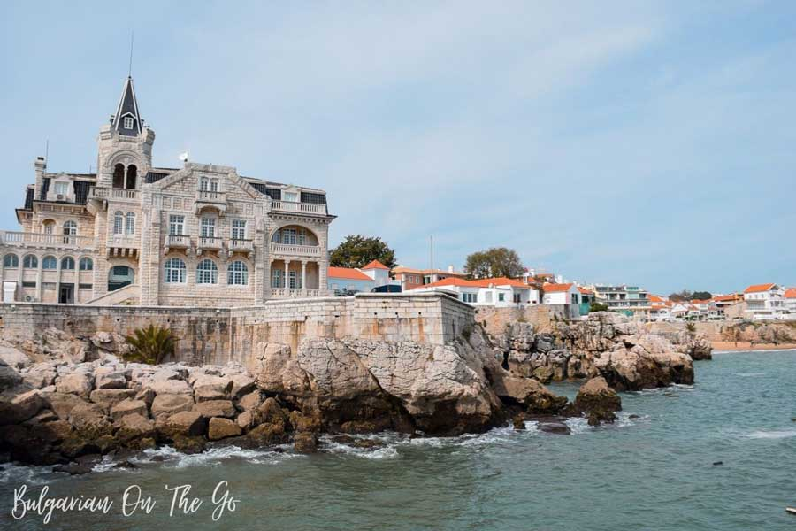 view of Cascais Portugal from water