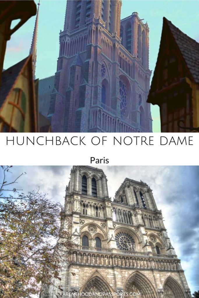 The animated setting of Hunchback of Notre Dame compared to the real-life inspiration for the Disney movie, Notre Dame in Paris