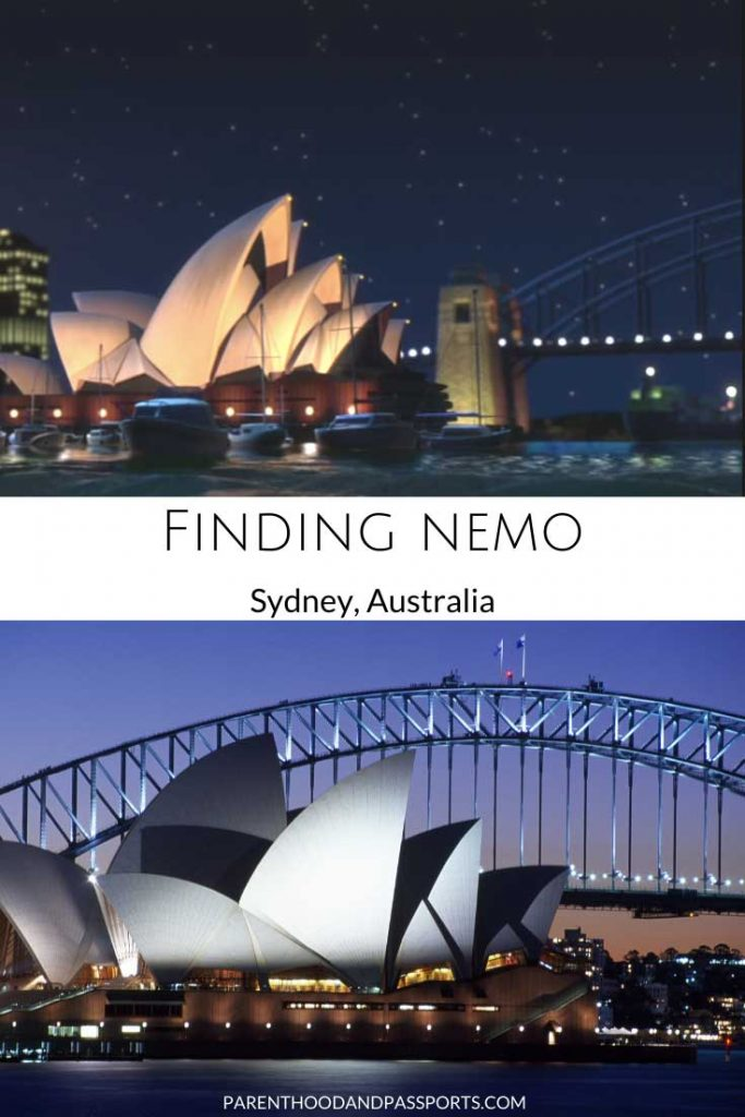 A picture from one of the places in Disney movies set in Australia like Finding Nemo compared to a real picture of Australia