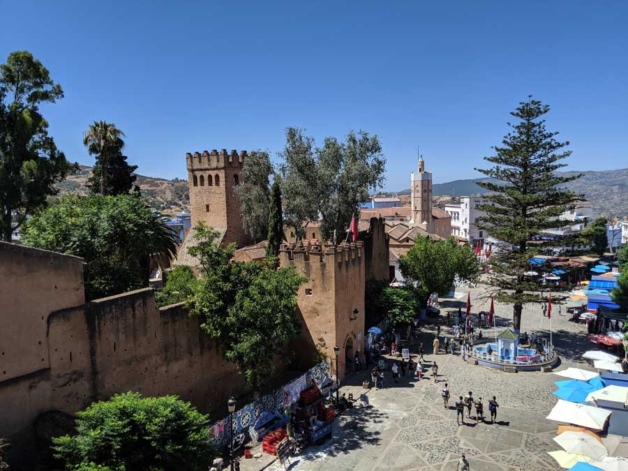 overlooking the Kasbah museum and Plaza Uta