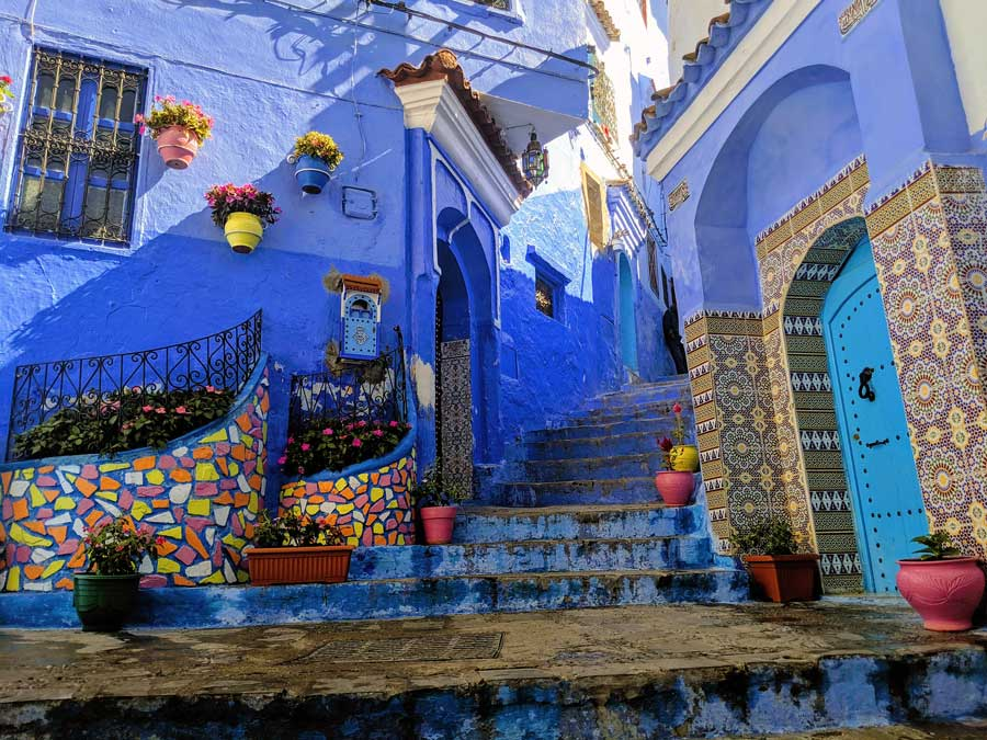 One of the most beautiful photo spots in Chefchaouen.