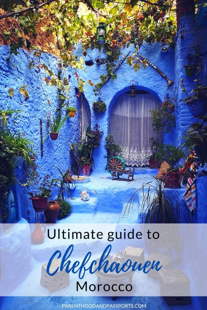 Planning to visit the blue city of Morocco? This ultimate guide to Chefchaouen includes 16 spectacular things to do in Chefchaouen, travel tips for Morocco, advice for visiting Chefchaouen with kids, a look at the most Instagrammable photo spots in Chefchaouen and everything you need to know about traveling to Chefchaouen, the blue pearl of Morocco. | where to stay in Chefchaouen | where to eat in Chefchaouen | what to do in Chefchaouen | Morocco itinerary | Morocco travel | places to visit in Morocco | Morocco day trip | Chefchaouen travel tips