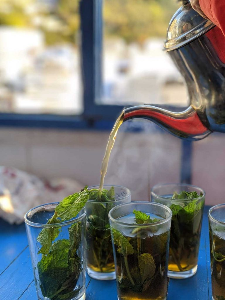 Mint tea is the national drink - Morocco interesting facts.