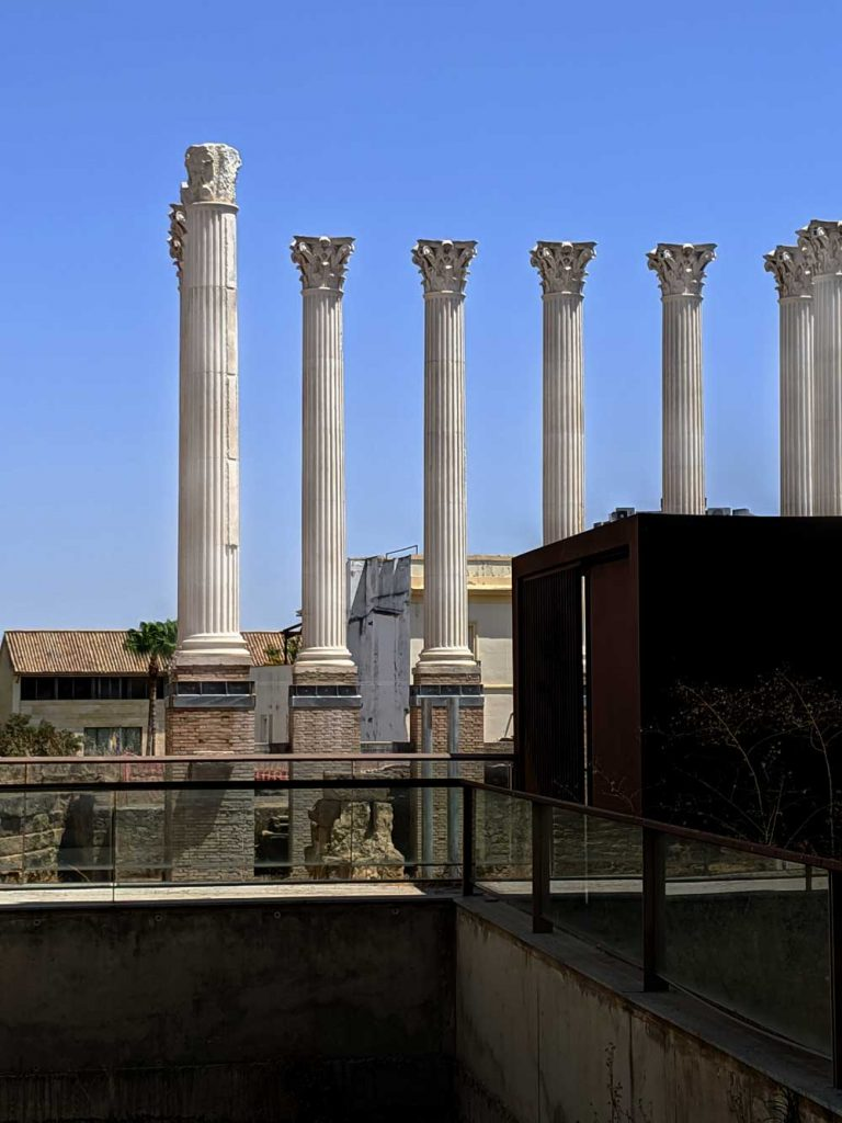 Roman Temple in Cordoba, one of the lesser visited attractions in Cordoba