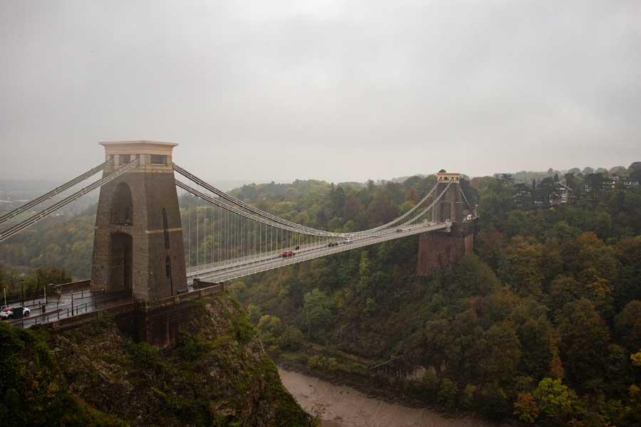 Clifton Suspension Bridge in Bristol. UK famous bridges.