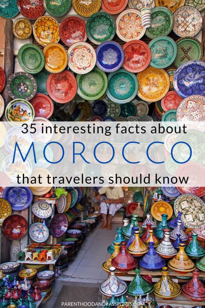 Planning a trip to Morocco? Here are 35 interesting facts about Morocco that all travelers should know before they visit the North African country. #morocco #travel #africa