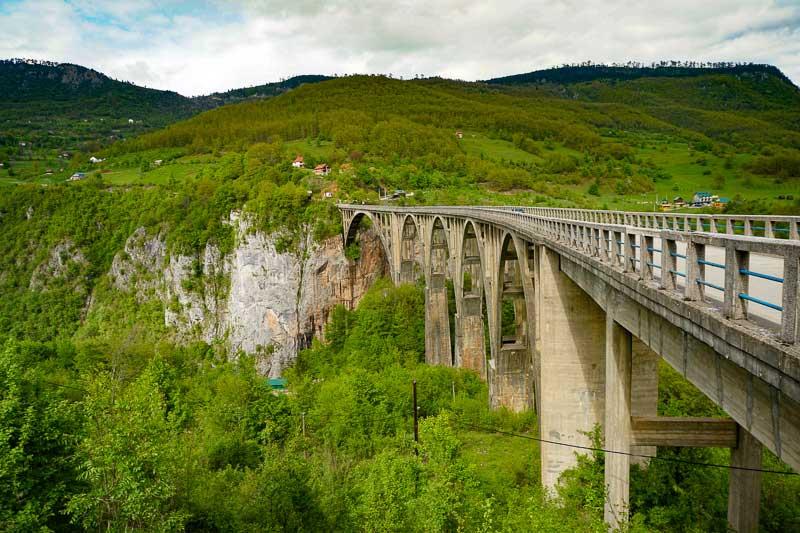 Tara Bridge in Durmitor National Park in Montenegro
