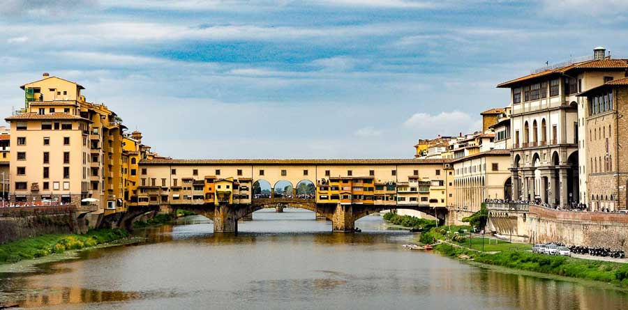 Ponte Vecchio in Florence. One of the coolest European bridges.
