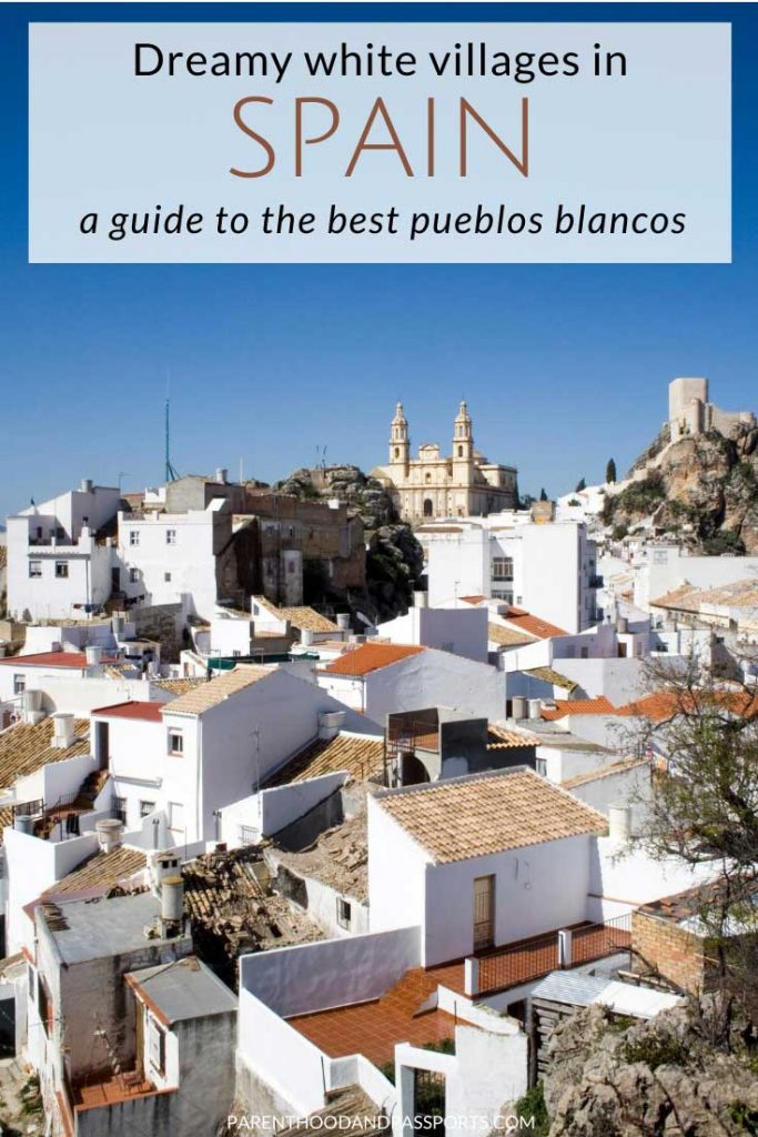The pueblos blancos, or white villages in Spain, are mostly found in Andalusia, but there are quaint Spanish towns with brilliant white walls located throughout the country. Here are the best white-washed Spanish villages and towns to add to your Spain itinerary. #spain