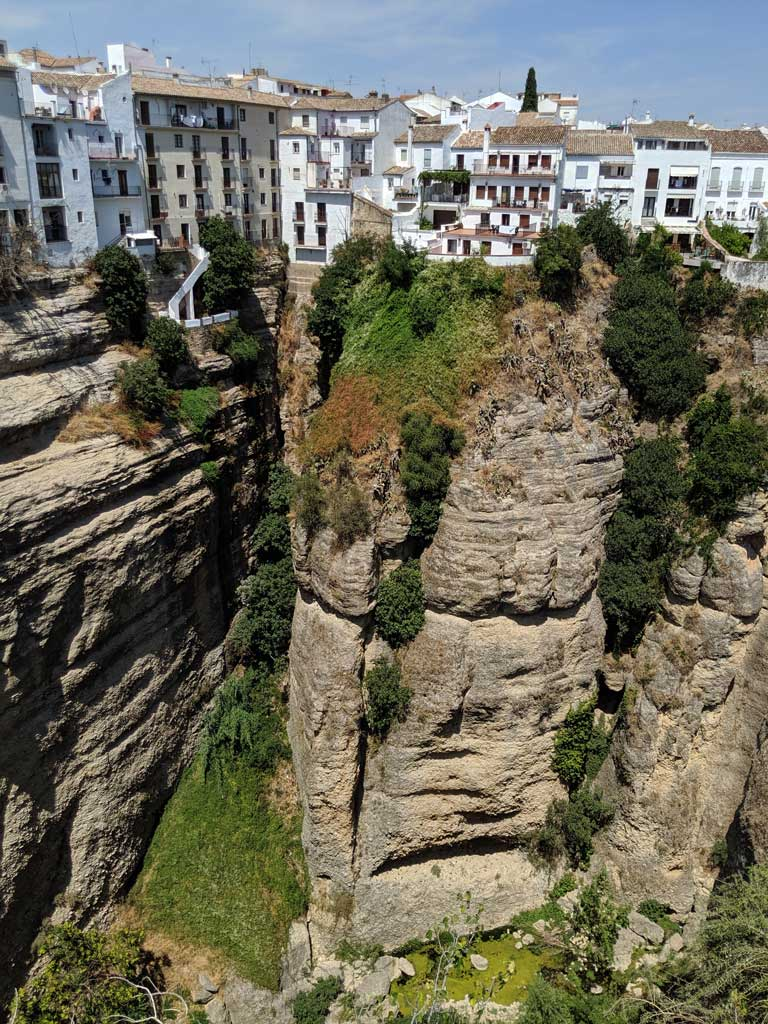 Ronda, one of Spain's picturesque white villages on a cliff.