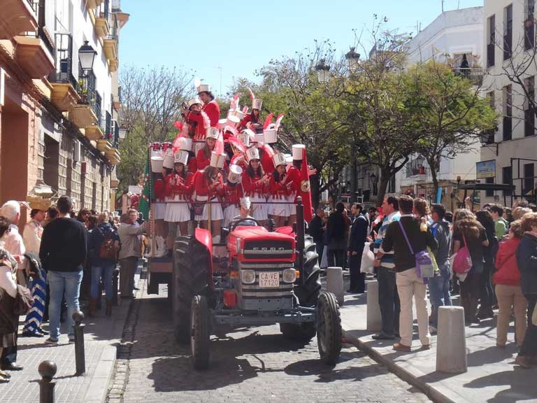 Parade at Carnival in Cadiz